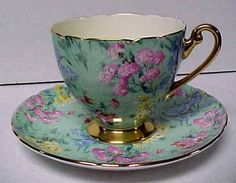Shelley cup and saucer.: