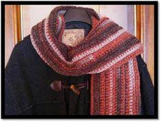 Tejiendo con Google: Como tejer una Bufanda a crochet para hombre