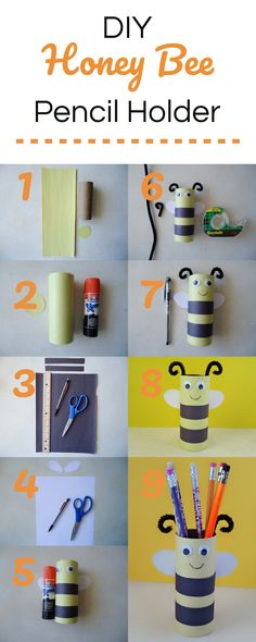 Learn how to make this fun back to school honey bee pencil holder. Not only will children have a great time making this craft, but they will also learn the importance of honey bees in our lives. Bee Crafts For Kids, Back To School Crafts, Diy For Kids, Great Gifts For Mom, Perfect Gift For Mom, Toddler Art, Toddler Crafts, Honey Bee Kids, Honey Bees