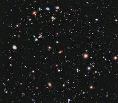 The Hubble eXtreme Deep Field (XDF) image, released in 2012, is our deepest optical view of space thus far. It shows over 15,000 galaxies from 13.2 billion years ago. Due to the length of time it takes light to travel, many of these galaxies no longer exist. If viewed from earth, the XDF image would take up about as much of the sky as one-tenth of a full moon.