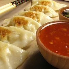 Homemade chicken pot stickers - bet you can't eat just one.