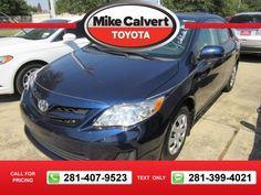 2013 Toyota Corolla L 28k miles $14,480 28446 miles 281-407-9523  #Toyota #Corolla #used #cars #MikeCalvertToyota #Houston #TX #tapcars