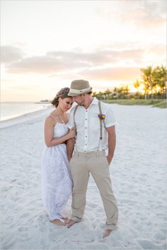 beach wedding ideas - feature on @wedding chicks   hair and make-up - @Studio Marie-Pierre  set up - @Say Yes in Key West  invitations - @Beacon Lane Weddings
