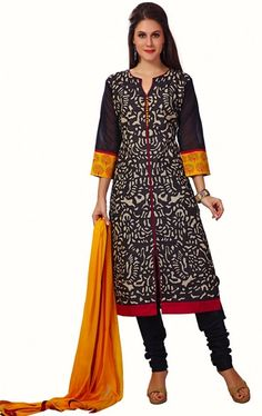 Picture of Angelic Navy Blue and Biscuit Cream Color Ready Made Salwar Kameez