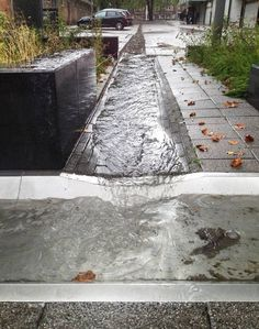 "landscape-a-design: "" Drainage as water features Project: Waterplein Benthemplein Designer: De Urbanisten Location: Rotterdam, Netherlands … """