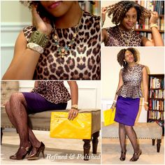 Fashion Refined ~ Leopard & Plum | Refined and Polished