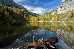 Mountain lake in wonderful nature in Schladming Dachstein region Austria, Mountains, Nature, Summer, Travel, Image, Vacation Places, Horseback Riding, Naturaleza