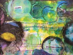 #mixedmedia #collage #acrylmalerei #artstamp #artpainter
