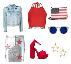 The USA look by vitoriarosso on Polyvore featuring polyvore, fashion, style, Boohoo, Givenchy, Zoe Karssen, Jeffrey Campbell, Draper James, Kenneth Jay Lane, Illesteva and clothing