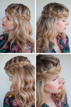 Romantic Crown Braid for Long Hair - Perfect Braid Crown - Hairstyles Weekly
