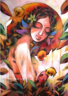 """Woman & Nature"" Painting Series by Artist Kumaraswamy B http://colourentice.com/artist-profile/Kumaraswamy-B.php For more works visit us at www.colourentice.com or for assistance call us at 9920042242 ‪#‎Art‬ ‪#‎Paintings‬ ‪#‎homedecor‬ ‪#‎artonsale‬ ‪#‎Woman‬ ‪#‎Nature‬"