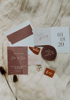 Cliffside Elopement Wedding Stationary