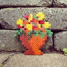Flowerpot hama perler beads by tamatek