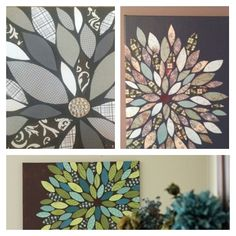 Paper or fabric on canvas!