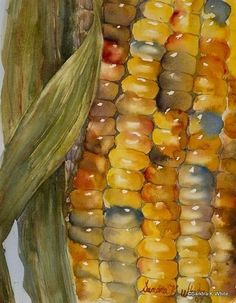 corn-watercolor by e-liza #watercolorarts