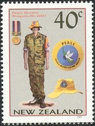 New Zealand Stamp - (Military Uniforms - Peace Monitor Bougainville Military Art, Military Uniforms, Monitor, Reptiles And Amphibians, Stamp Collecting, Postage Stamps, Peace, Books, Cards