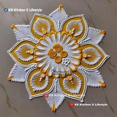 Happy Diwali Rangoli, Easy Rangoli Designs Diwali, Indian Rangoli Designs, Rangoli Designs Latest, Simple Rangoli Designs Images, Rangoli Designs Flower, Free Hand Rangoli Design, Small Rangoli Design, Rangoli Border Designs