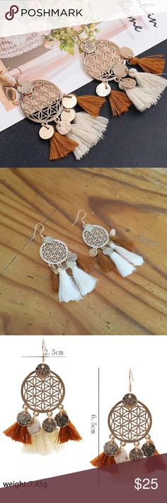 🌻Bohemian Dream Catcher Tassel Earrings! 🌻Bohemian Dream Catcher Tassel Earrings!  Super Cute & Stylish these go with everything.  Love the Dream Catcher Design😍 April's Boutique Jewelry Earrings