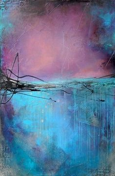 beautiful shades of blue and purple work well together