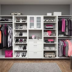 Walk In Closet Designs Pictures Spacious Open White Ikea Closet Design Ikea Closet Design, Walk In Closet Design, Closet Designs, Ikea Design, Master Bedroom Closet, Girls Bedroom, Bedroom Closets, Master Bedrooms, Diy Bedroom