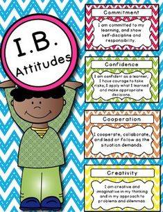 ***** Free for first 24 hours***** International Baccalaureate IB posters for the PYP attitudes in chevron colored backgrounds. Thanks for browsing. I sure would appreciate the feedback. Thanks, Chrissie