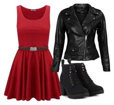 """Biker Chick"" by xxauditorexx ❤ liked on Polyvore"