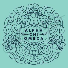 Sorority Social Alpha Chi Omega Floral Border South By Sea