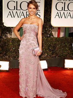 Golden Globe- Jessica Alba. I think she is fabulous.