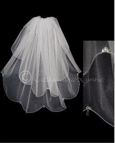 Waist Angel Dust Veil With Swarovski Crystal Drops Bling WeddingWedding