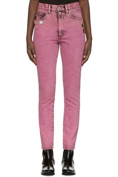 Marc Jacobs - Pink Flood Stovepipe Jeans