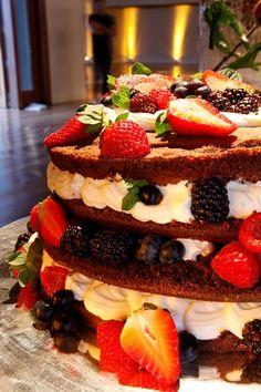 naked cake 2 Chocolate, Bolo Cake, Naked Cake, My Perfect Wedding, Cookies, Celebration Cakes, Baby Shower Cakes, Beautiful Cakes, Wedding Cakes