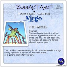 Daily tarot card for Virgo from ZodiacTarot! Single?  Nothing that a LoveScope can't help with!   Visit iFate.com today!