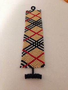 Burberry peyote cuff--love this one!