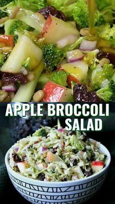 Best Salad Recipes, Diet Recipes, Vegetarian Recipes, Cooking Recipes, Recipes Dinner, Vegetarian Broccoli Salad, Delicious Salad Recipes, Best Healthy Recipes, Healthy Cooking Recipes