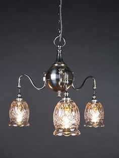 Beautiful silver plate chandelier featuring cut glass shades Art Deco Lighting, Antique Lighting, Cut Glass, Glass Shades, Silver Plate, Art Nouveau, Chandelier, Drop Earrings, Lights