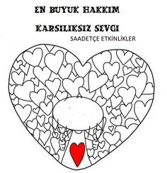DÜNYA ÇOCUK HAKLARI Preschool Painting, Diy And Crafts, Crafts For Kids, Letter Stencils, Fathers Day, Coloring Pages, Activities For Kids, Mandala, Projects To Try