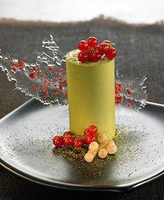 Green Tea & White Chocolate Jelly by Chef Adrian Geralnik #recipe