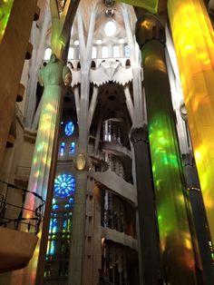 #lasagradafamilia #la #sagrada #familia #stain #glass #window #church #temple #gaudi #construction #barcelona #travel #adventure #city #break #amazing #beautiful #inside #pretty #photography