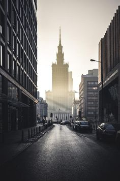 Warsaw City, Warsaw Poland, Cancun, Europe Centrale, City Drawing, Voyage Europe, Places To See, New York Skyline, Street View