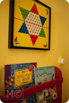 framed vintage board games
