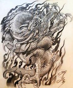 Картинки по запросу эскизы японских тату