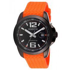 Momentus FS315R-06RB Men's Functional Sport Black Dial Orange Rubber Strap Watch
