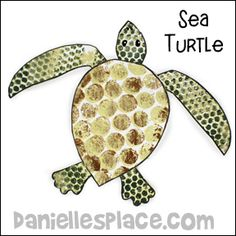 Bubble Wrap Sea Turtle Craft from www.daniellesplace.com