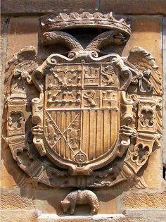 Escudo de Carlos I en la muralla de Viana  #Navarra