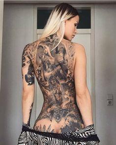 Beautiful back tattoo