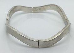 Image result for wavy sterling bracelet hinged