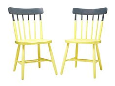 Check out these cool two-toned chairs that (re)sold super fast online #hgtvmagazine http://www.hgtv.com/decorating-basics/rescued-rehabbed-and-resold-furniture/pictures/page-7.html?soc=pinterest#