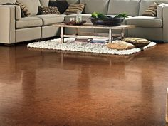 Candace Olson cork floors.  yum