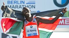 Kenyan Wilson Kipsang Sets World Record at Berlin Marathon 2:03:23