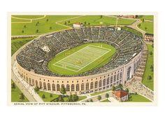 University Of Pittsburgh, Pittsburgh Steelers, Football Stadiums, Picture Logo, Best Memories, 16th Century, Baseball Field, Pennsylvania, Art Prints